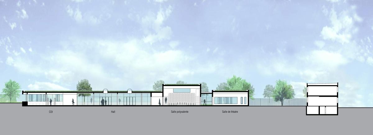 Extension d'un lycée à Mantes La Jolie EMMANUELLE LE CHEVALLIER ARCHITECTE