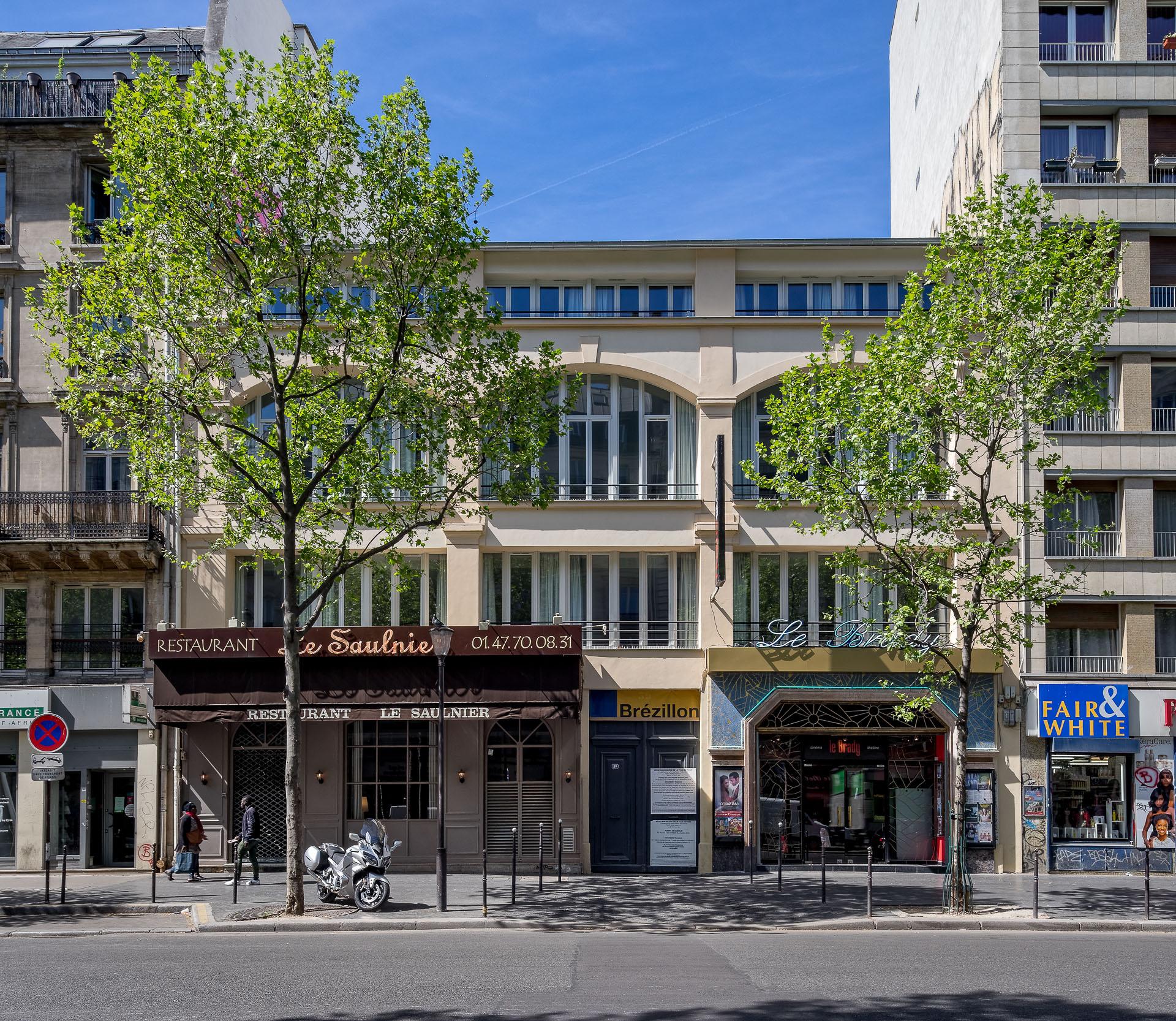 ATELIER D'ARCHITECTURE ELC PASSAGE REILHAC FACADE BOULEVARD DE STRASBOURG
